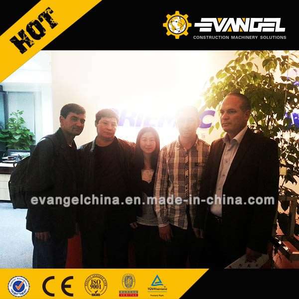 Turkmenistan customer visited our office for LIUGONG CLG614 Road Roller
