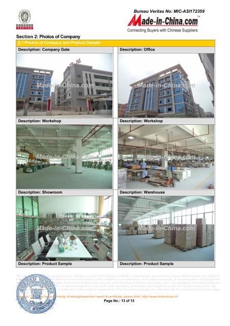 Factory Audit of BV