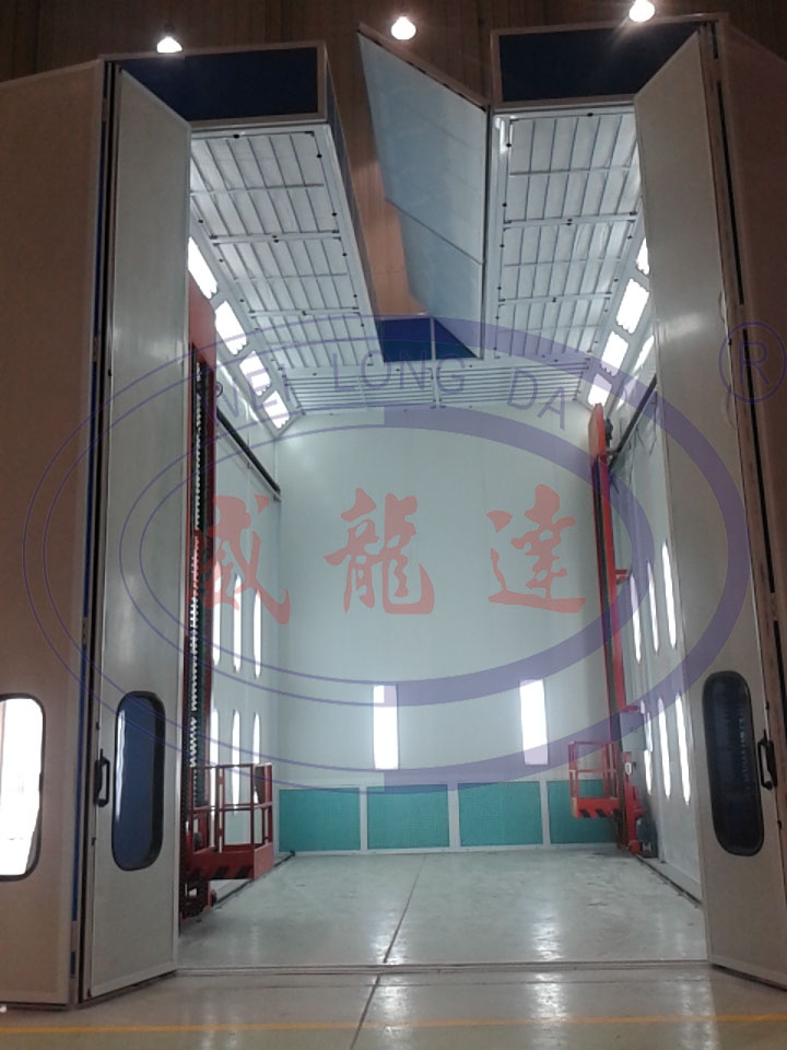 Open Roof Spray Booth