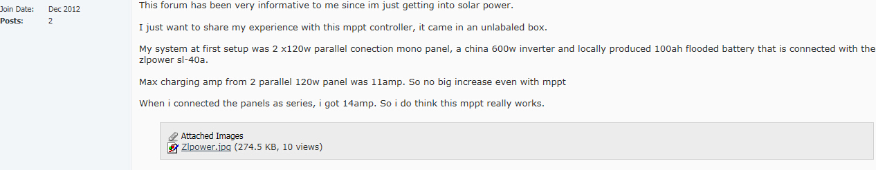 Remark for ZLPOWER MPPT solar charge controller
