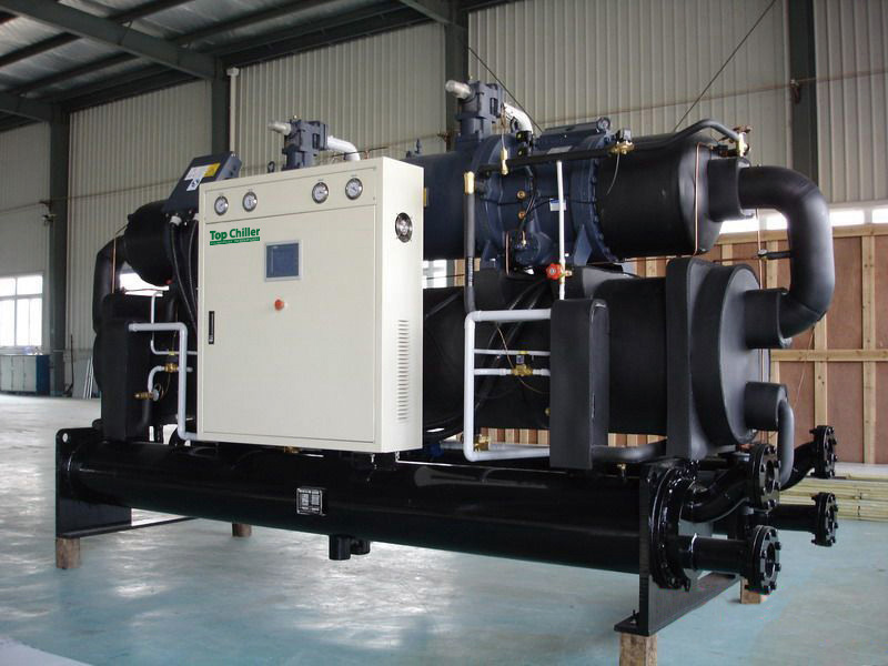 150Ton water cooled chiller with screw compressor used for plastic machine factory