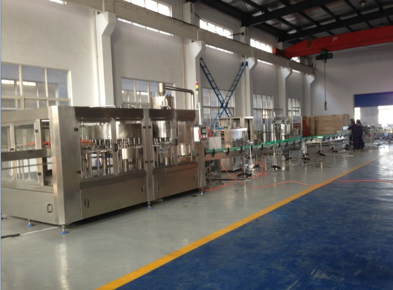 Factory Display for Juice Filling Machine