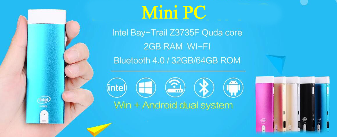 1.83GHz Quad Core Intel Compute Stick Windows 10 TV Stick Computer Stick Mini PC