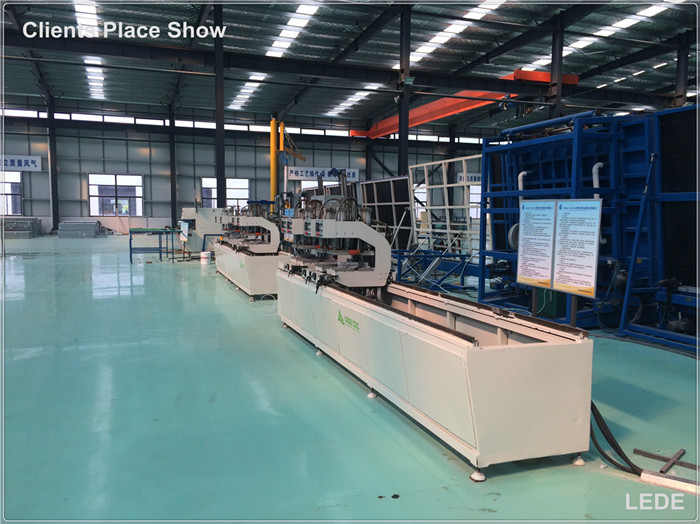 Four Head Welding Machine for Mullion and Free Angle