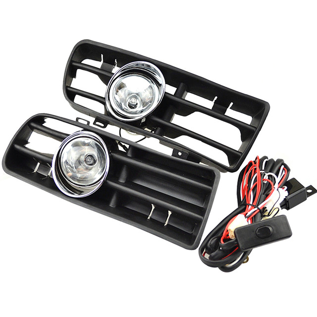 Front Fog Lights with Racing Grills & Wiring Harness Switch Fog Light Auto Accessories for VW Golf M