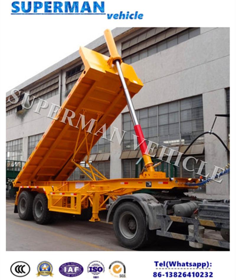 Two Axle 20ft Container Dump Semi Truck Trailer/Tipper Trailer