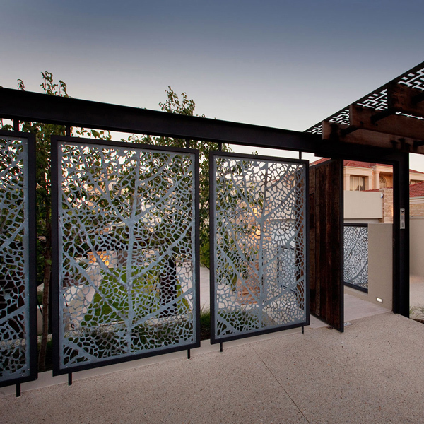 Laser Cut Outdoor Fence