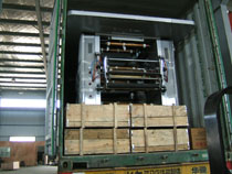 load in container