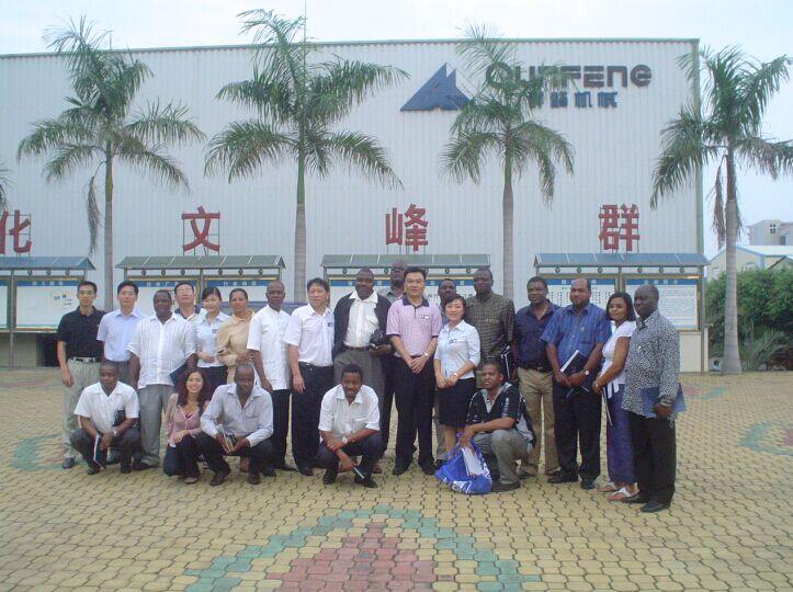 Ambassadors from Afracia visit Qunfeng