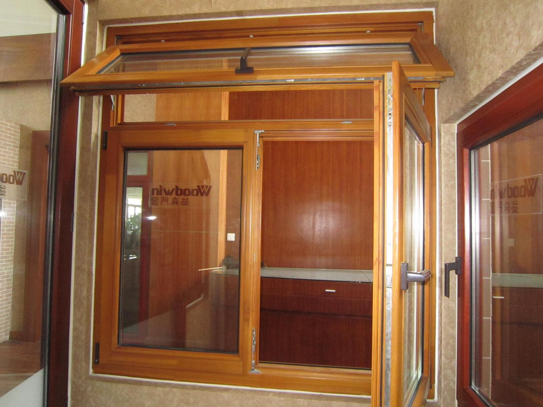 German style wooden window