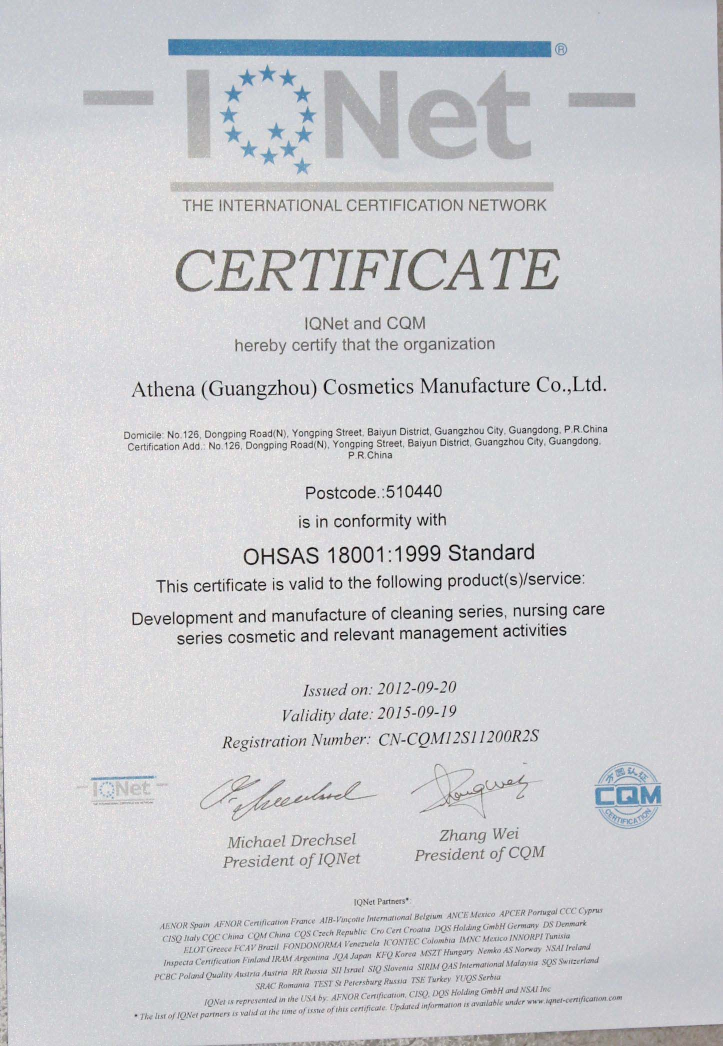 IQNET 14001:2004 Standard