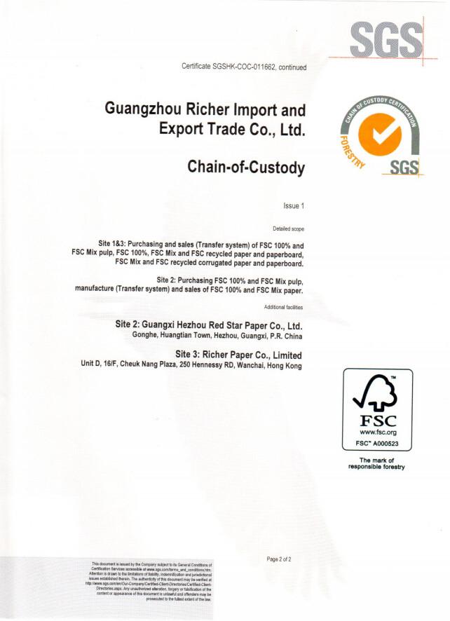 FSC Certificate-Page 2
