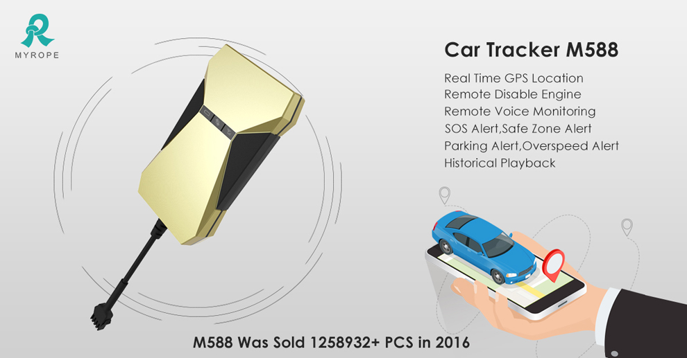 Hot sell Gps tracker M588 was sold 1258932+pcs in 2016