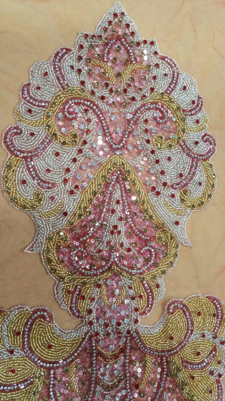 Hand Sew Beading for Evening Dress