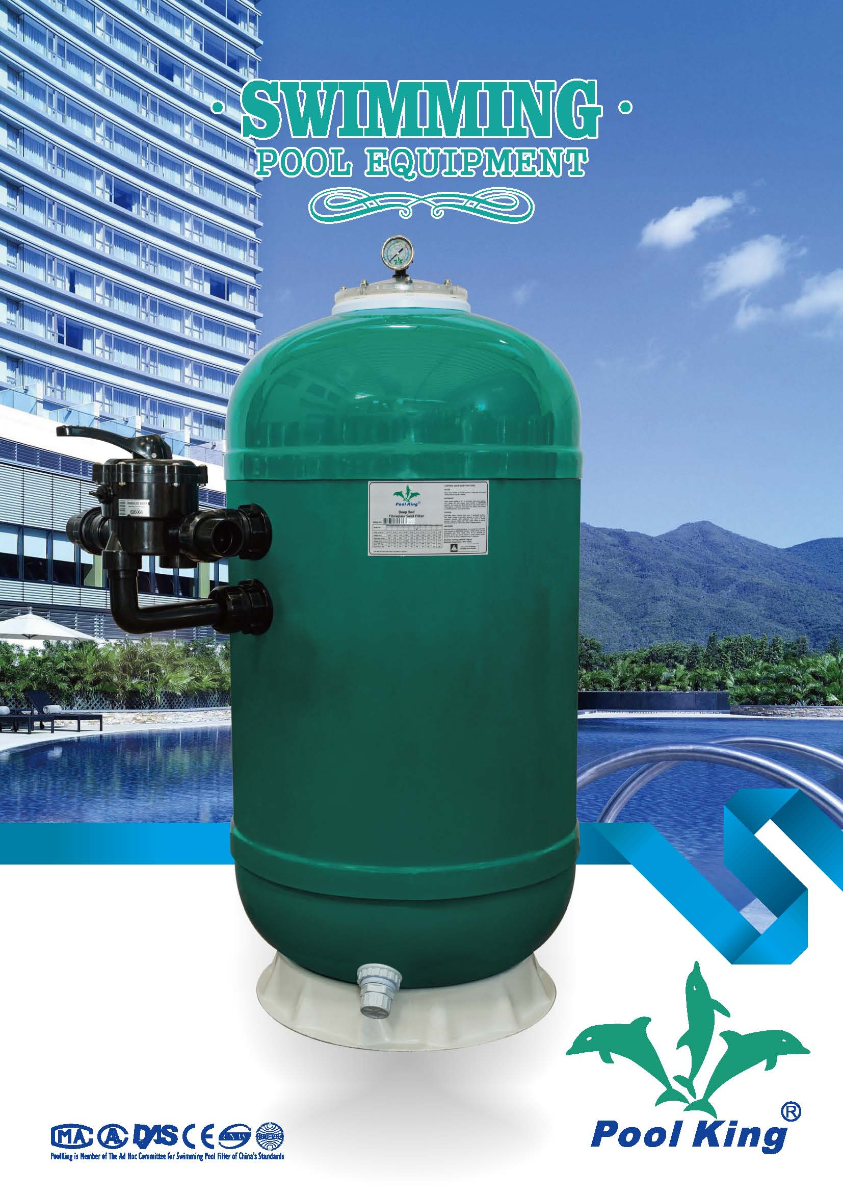 Laminated deedbed sand filter