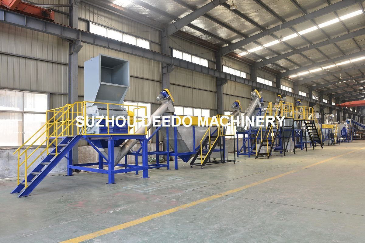 PET bottles recycling washing machine line