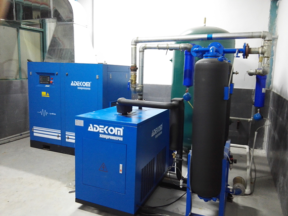VSD Rotary Screw Air Compressor Installed in China 2015