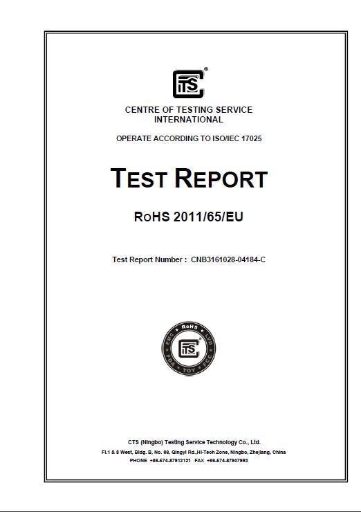 Dinghui ROHS Test Report