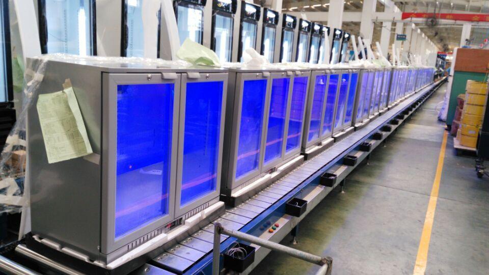 Apex Silve Back Bar Cooler on Produce Line
