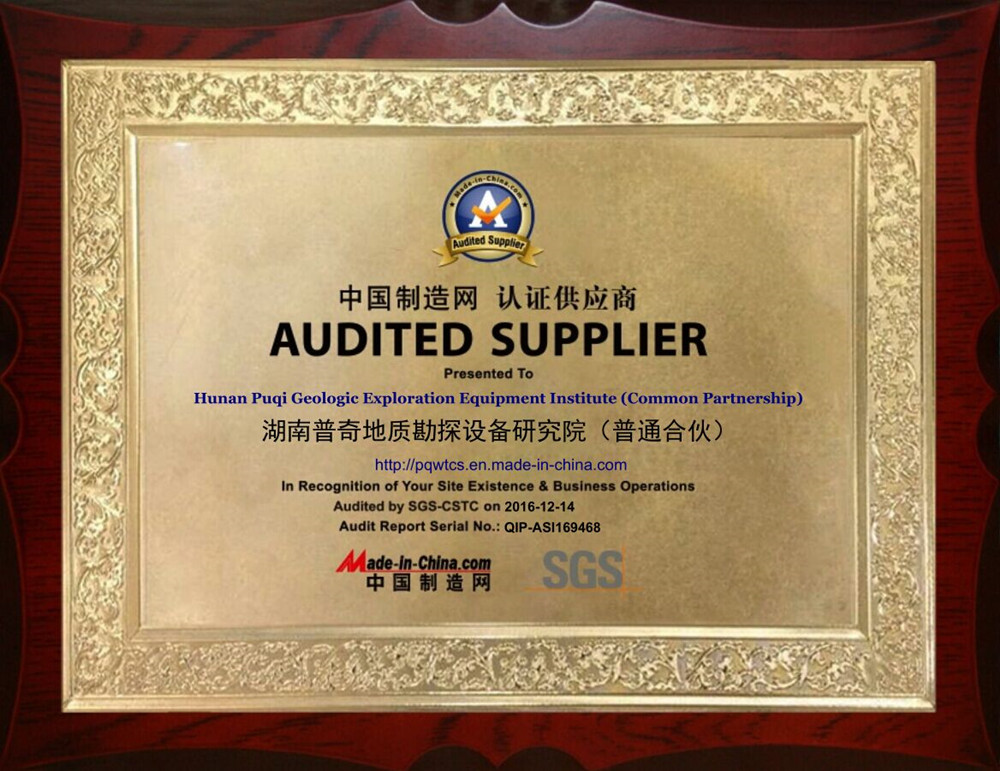 Audited Supplier of Made-in-China.com & Certificate of SGS