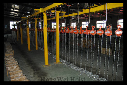 Electric hoist workshop