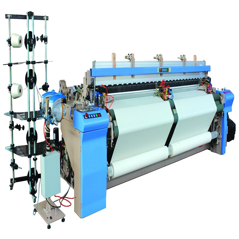 High speed air jet loom weaving machine