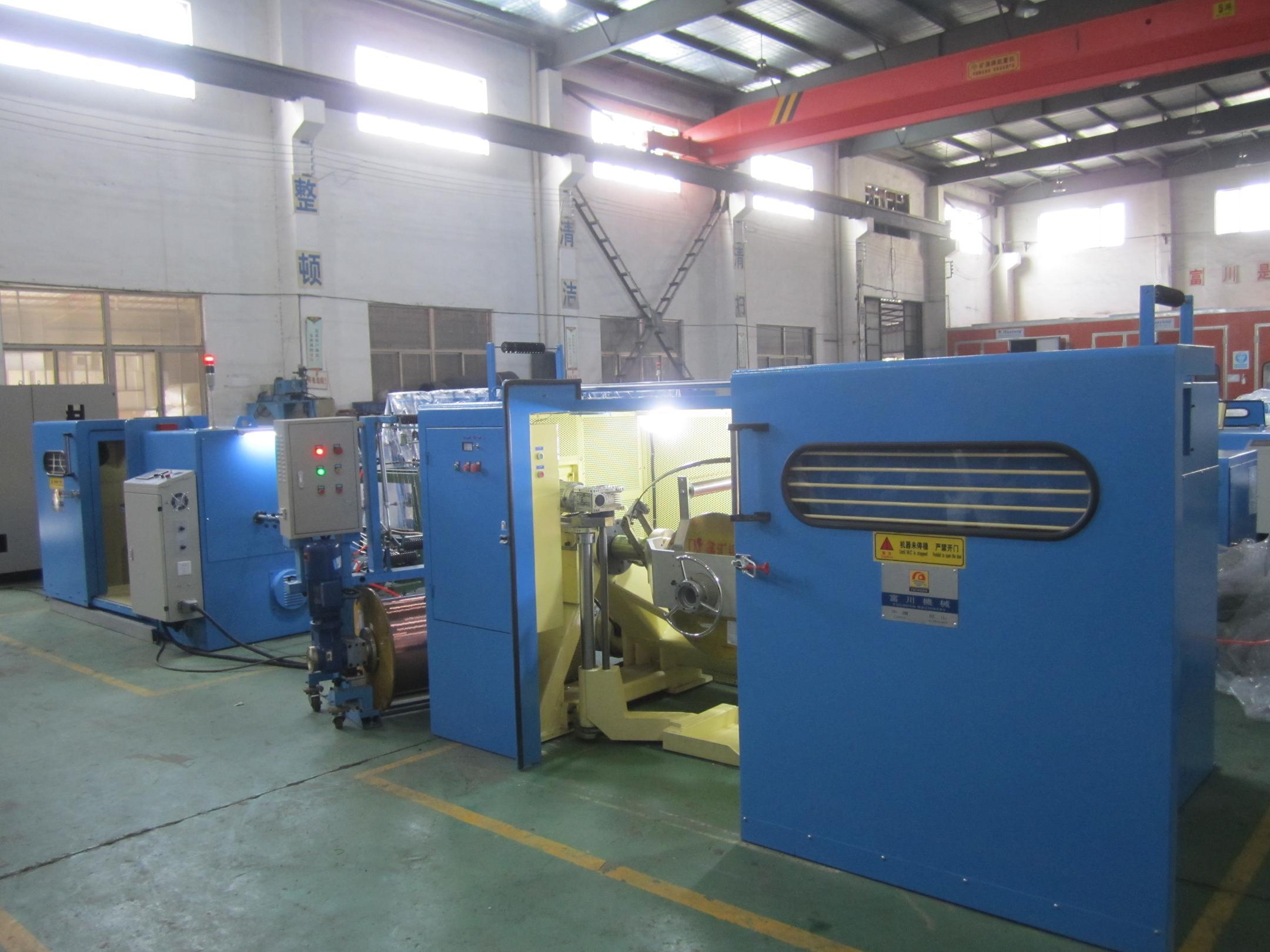 1+6+12high speed copper wire twisting machine