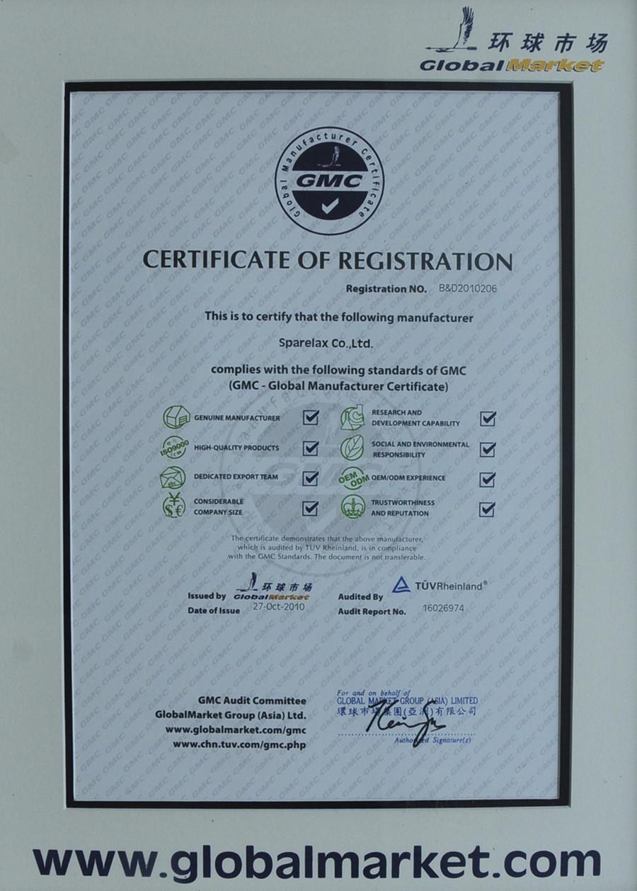 TUV-GMC certificate