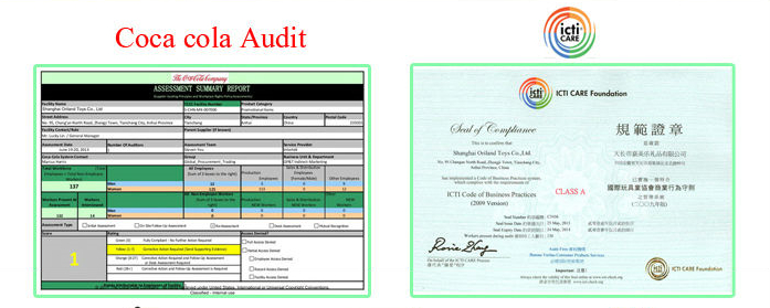 ICTI and Coca Cola Audit for Factory