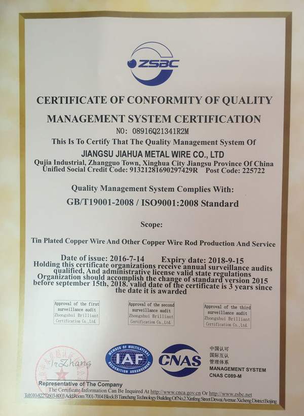 Management System Certifications