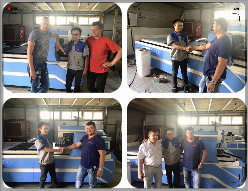 JQ YAG laser machine cutting metal training
