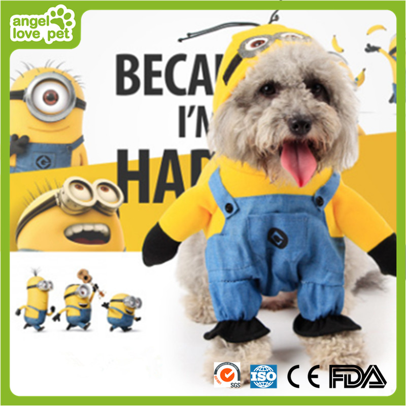 Minions Pet Clothes Hooded Garment Pet Product