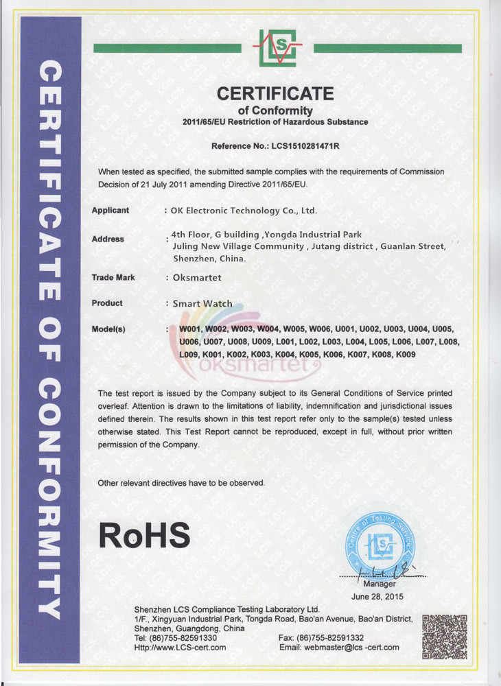 ROHS FOR SMART PRODUCTS