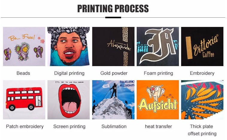 Screen printing sublimation printing Embroidery heat transfer