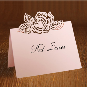 Wedding card engraving