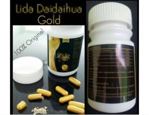 100% Natural Lida Gold Black Weight Loss Slimming Capsules