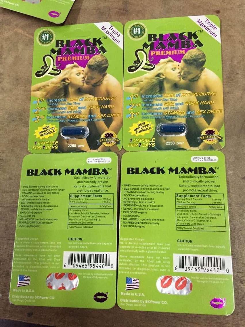 Black Mamba Premium Triple Maximum Male Enhancement Pill