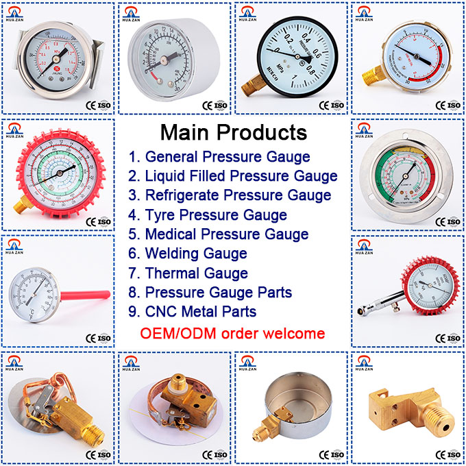 We provide OEM/ODM order for various pressure gauge