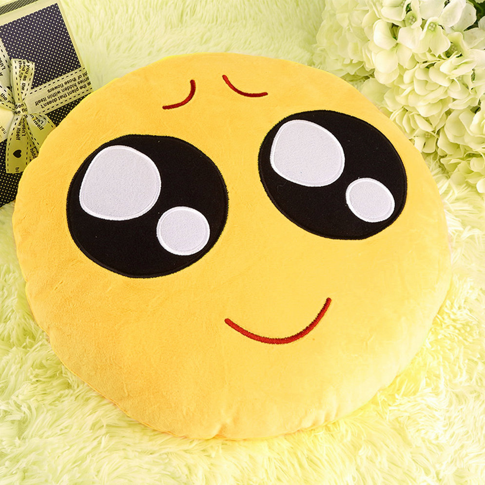plush emoji pillow