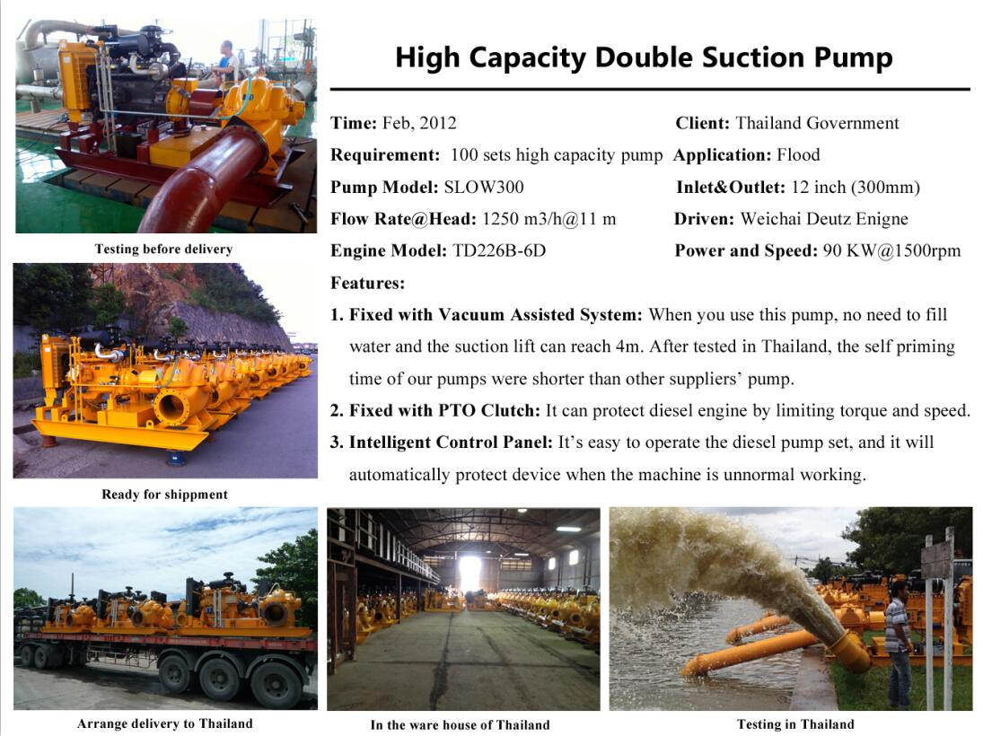 True Case of Double Suction Split Case Centrifugal Pump in Thailand