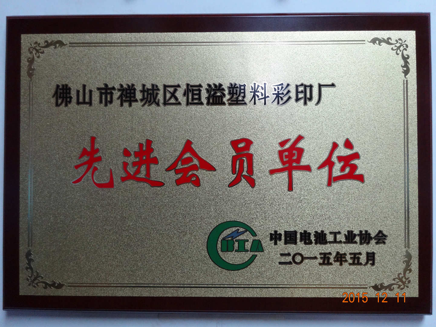 Member of Battery Industry Association