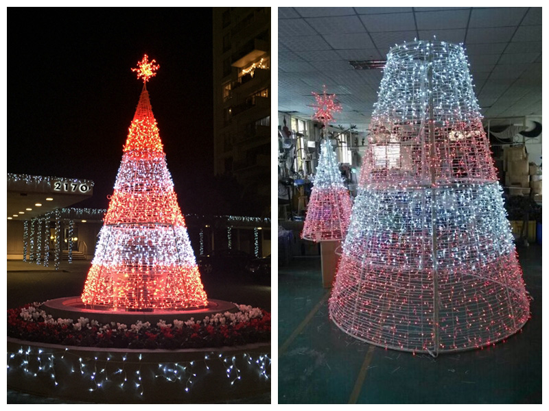 Outdoor Square 3D Christmas Tree