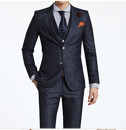 New Italy style Men's 2-pc wool suit