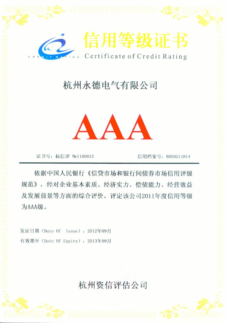 credit rating Certification