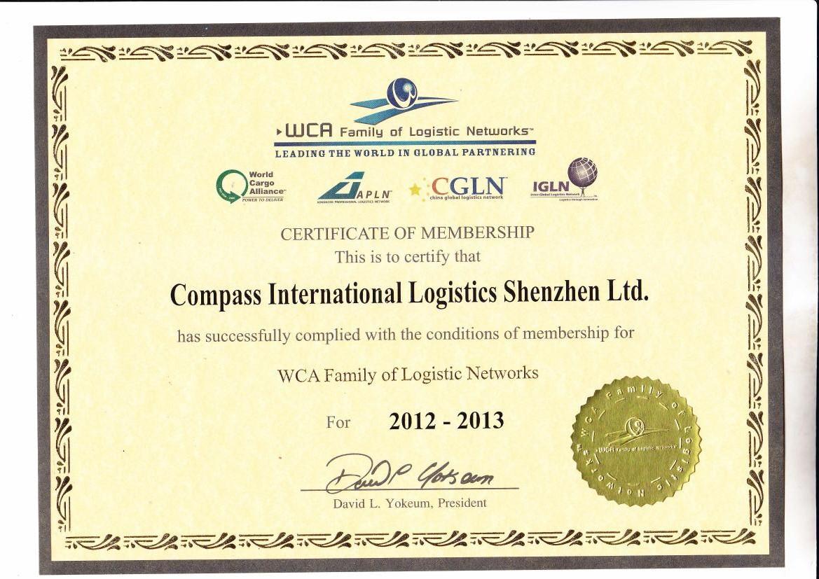 Member of WCA ,IGLN,CIFA,SGS