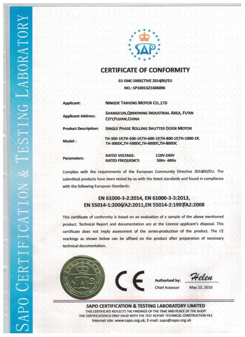 3P CE Certification