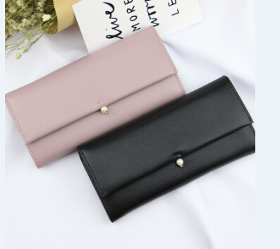 Chanle wallet bag with imitaiton pearl flap