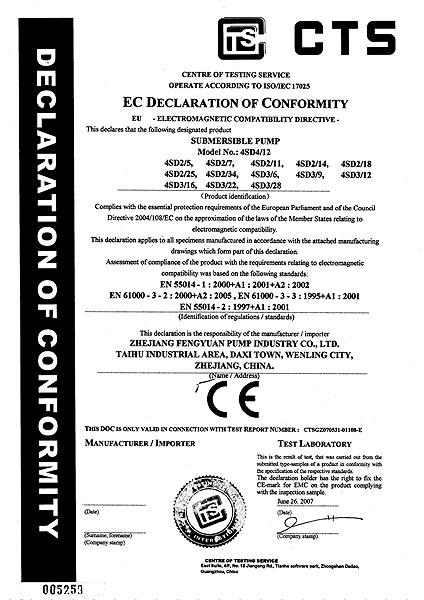 CE Certificates(02)