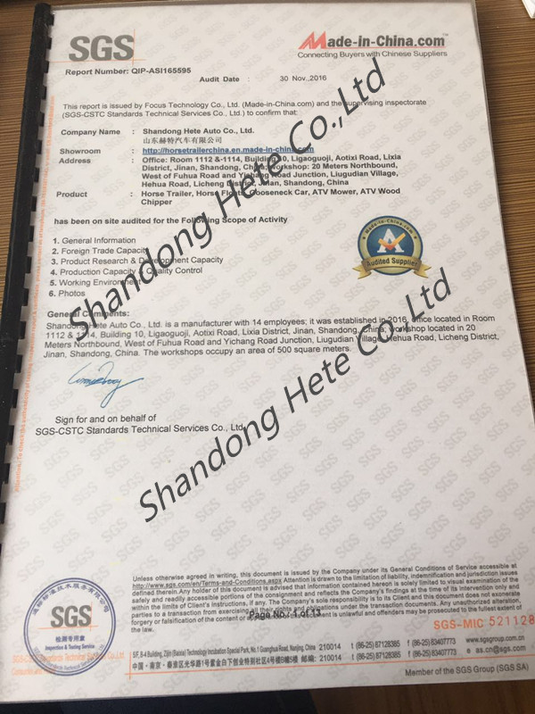 SGS Audit Manufacutrer