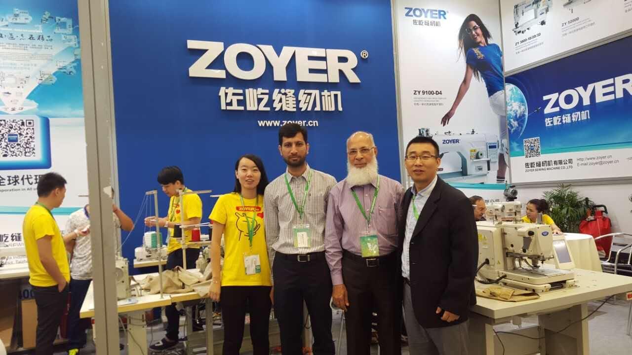 zoyer sewing machine factory customer show